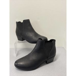 Call It Spring Black Ankle Boots size 7.5